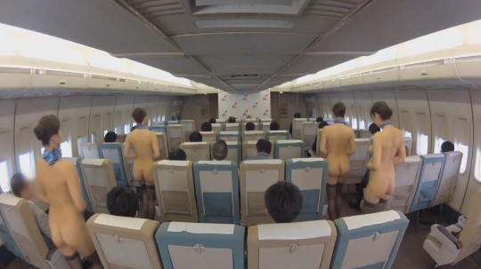 CMNFの世界!CAがオマンコ露出&全裸勤務する航空会社サンプル105