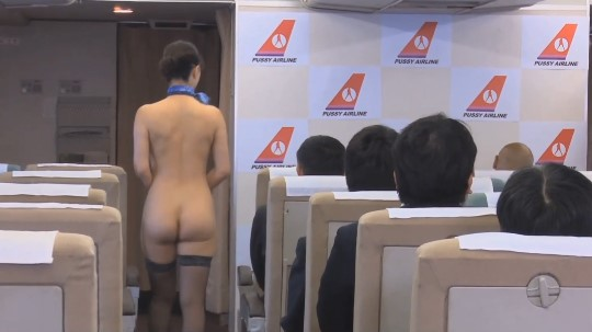 CMNFの世界!CAがオマンコ露出&全裸勤務する航空会社サンプル93