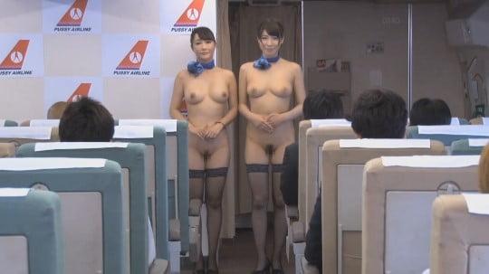 CMNFの世界!CAがオマンコ露出&全裸勤務する航空会社サンプル95