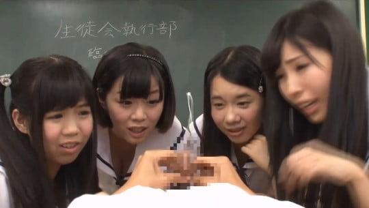 まるでVR作品!完全主観で女子校生CFNM集団センズリ観察サンプル150