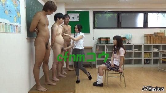 cfnmコウ6作目。教室で男子だけ全裸のフルチン性教育授業サンプル69