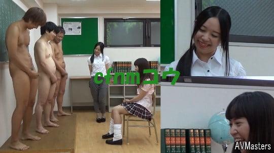 cfnmコウ6作目。教室で男子だけ全裸のフルチン性教育授業サンプル84