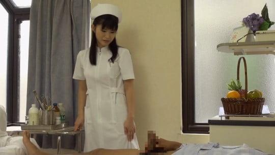 CFNM泌尿器科でナースが精液採取!看護師が見てる前で射精サンプル164