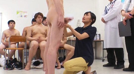 CFNMフルチン男子身体測定に立ち会う女教師!全裸授業4作目サンプル101