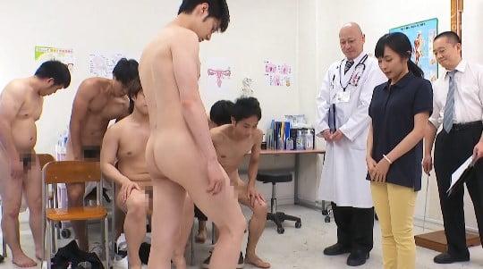 CFNMフルチン男子身体測定に立ち会う女教師!全裸授業4作目サンプル27