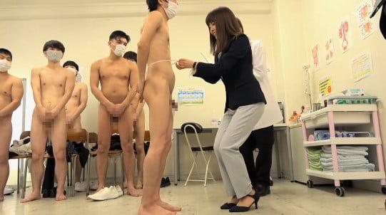 新任女教師が立ち会う性教育授業CFNMフルチン身体測定5作目サンプル29