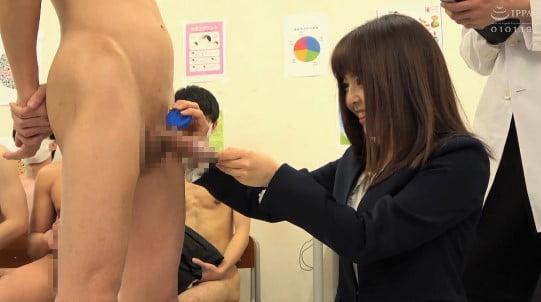 新任女教師が立ち会う性教育授業CFNMフルチン身体測定5作目サンプル71
